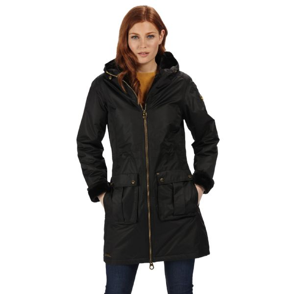 Women's Romina Waterproof Insulated Parka Jacket Black